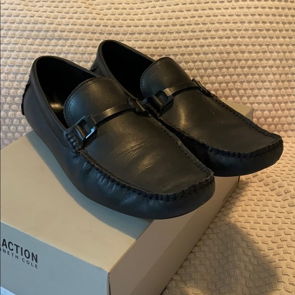 Kenneth Cole Black Sound Driver Loafers 9.5
